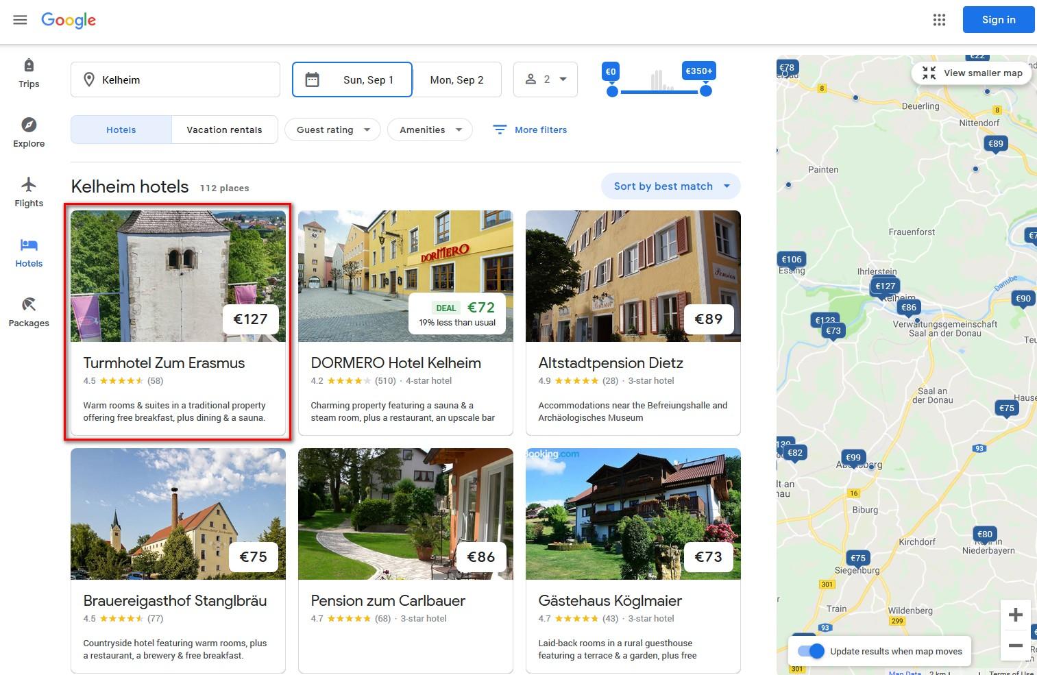 Travel_Google_Kelheim_Hotel_Erasmus_CultBooking