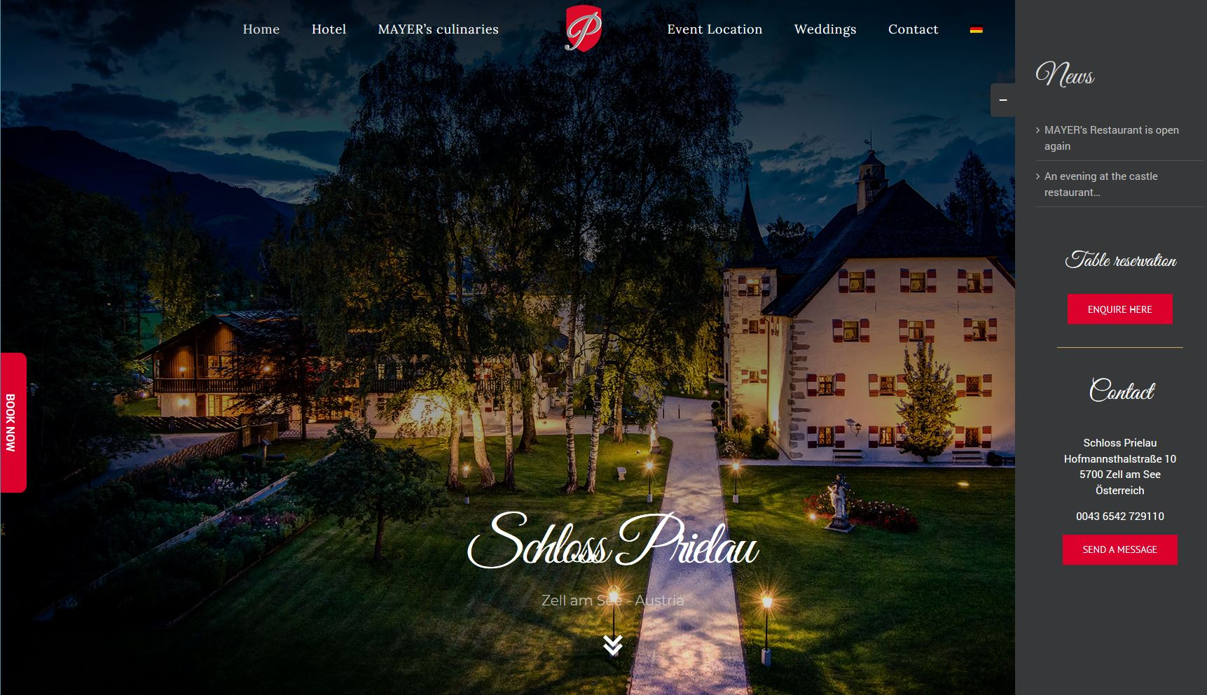 Schloss Pierlau - cultbooking - booking button - direct bookings - book now