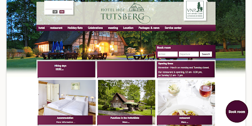 cultbooking _ hotel booking engine -  home tuts berg