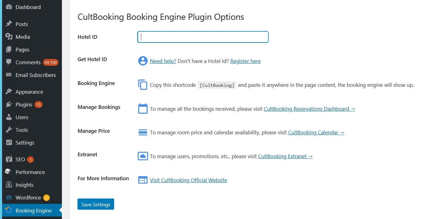 booking engine-wordpress-cultbooking