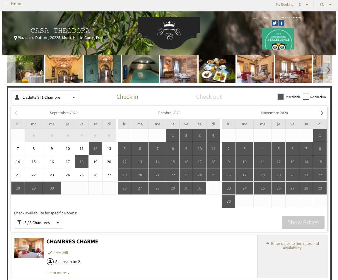 eviivo smart calendar