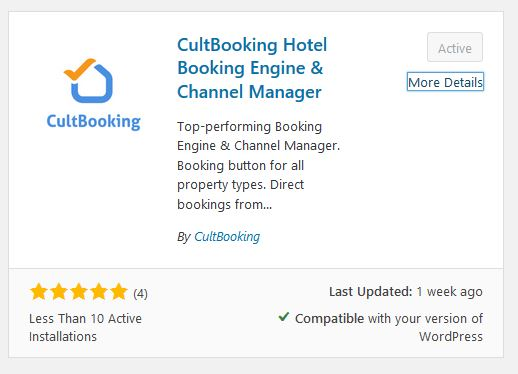 cultbooking - wordpress - hotel booking engine - booking button
