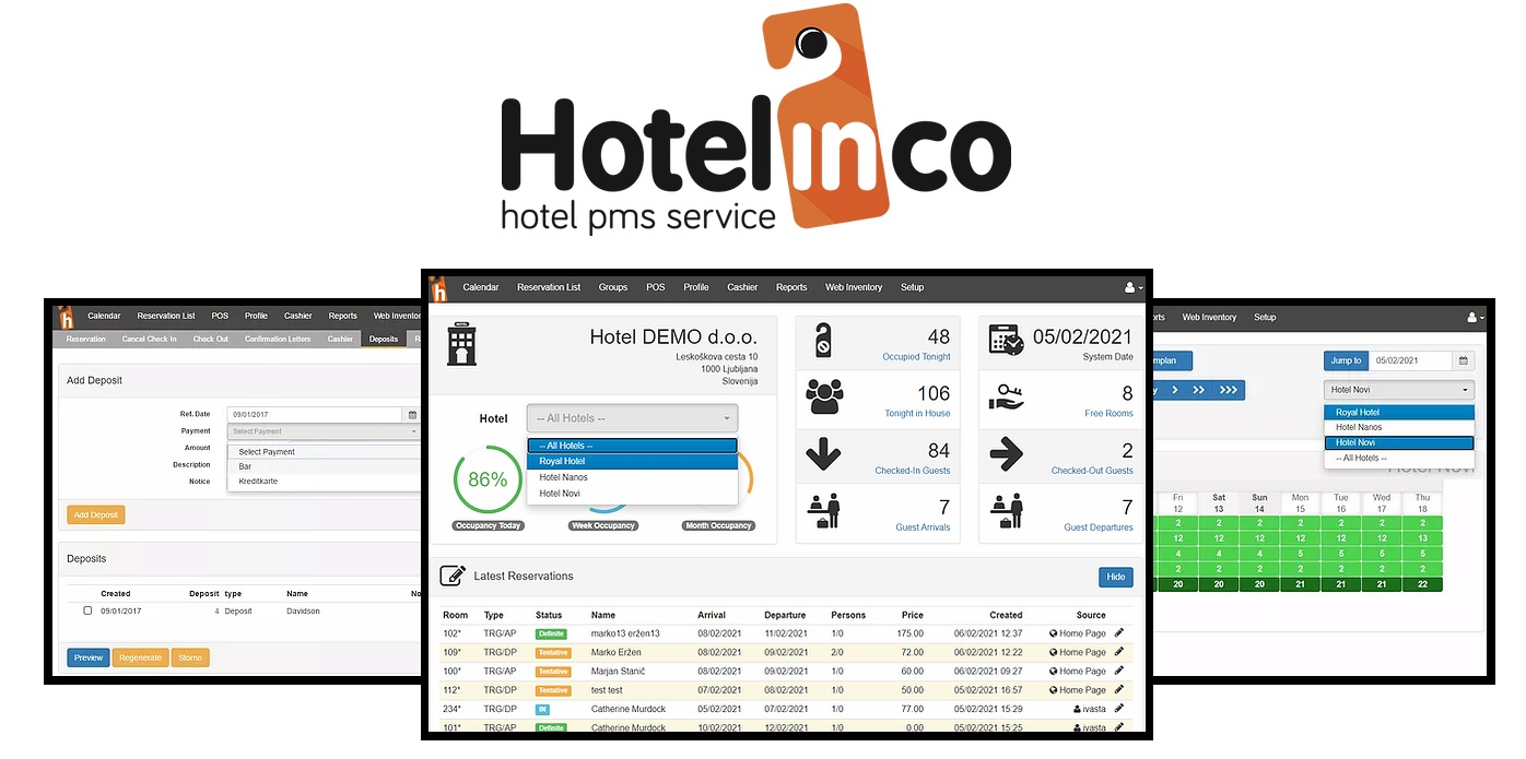 hotelinco & cultbooking booking engine - pms - hotel system