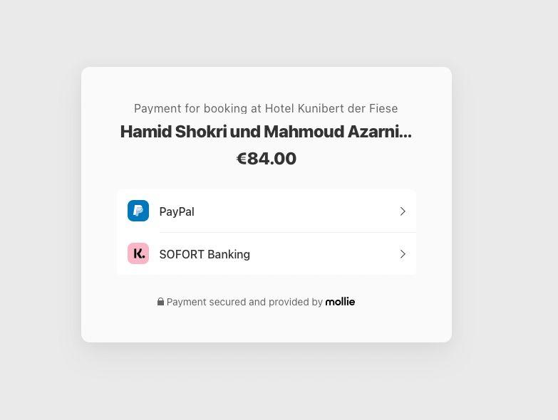 mollie - cultbooking - stripe - payment gateway